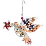 Pilgrim Imports Flower Hummingbird Ornament