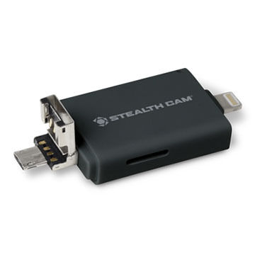 Stealth Cam Triple Connection Memory Card Reader