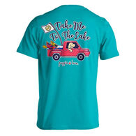 Puppie Love Women's Take Me To The Lake Pup Short-Sleeve T-Shirt