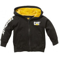 CAT Boys' Trademark Banner Zip Sweatshirt