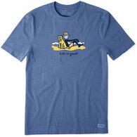 Life is Good Men's Jake & Rocket Beach Chill Vintage Crusher Short-Sleeve T-Shirt