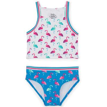 Hatley Toddler Girls Fancy Flamingos Tankini Set, 2-Piece