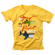 Wes And Willy Boy's Smiling Shark Short-Sleeve T-Shirt