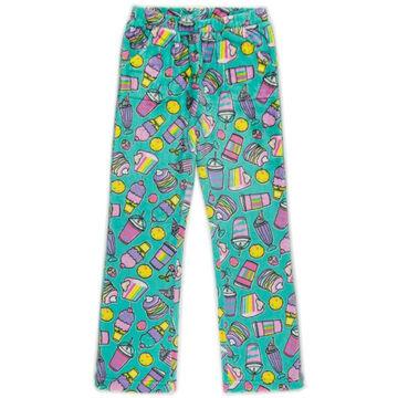 Candy Pink Girls Rainbow Food Pajama Pant