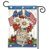 BreezeArt USA Mason Jar Garden Flag