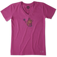 Life is Good Women's Hello Sunshine Garden Crusher Vee Short-Sleeve T-Shirt