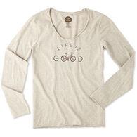 Life is Good Women's Good Bike Life Smooth Long-Sleeve T-Shirt