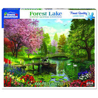 White Mountain Jigsaw Puzzle - Forest Lake