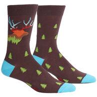 Sock It To Me Men's Horn To Be Wild Crew Sock