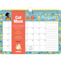 Cat Mom 17-Month 2022 Wall Calendar by Holly Jolley