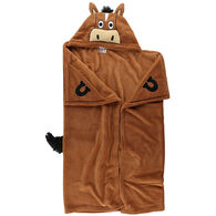Lazy One Kids Horse Critter Hooded Blanket