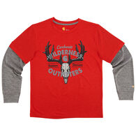 Carhartt Boys' Force Wilderness Outfitters Long-Sleeve T-Shirt