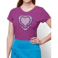 Earth Creations Women's Tie Dye Heart Contour Short-Sleeve T-Shirt