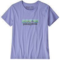 Patagonia Women's Pastel P-6 Logo Organic Cotton Crew Short-Sleeve T-Shirt