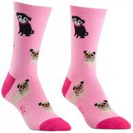 Sock It To Me Women's Pink Pugs Sock