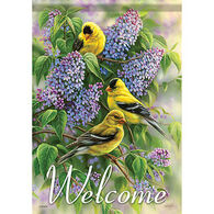 Carson Home Accents Flagtrends Goldfinch and Lilac Garden Flag
