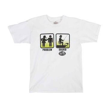 Direct Impulse Design Mens Problem Solved Fishing Short-Sleeve T-Shirt