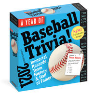 A Year of Baseball Trivia! 2021 Page-A-Day Calendar by Kenneth Shouler