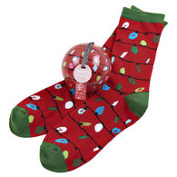 Hatley Little Blue House Women's Northern Lights Crew Sock and Tree Ornament