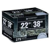 Federal Premium 22 LR 38 Grain CPHP Rimfire Ammo (275)