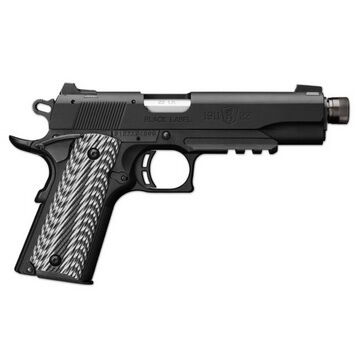 Browning 1911-22 Black Label Suppressor Ready with Rail Pistol