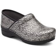 Dansko Women's Silver Ornate Patent Leather XP Professional Clog