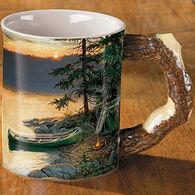 Wild Wings Summer Sunrise Sculpted Camping Coffee Mug