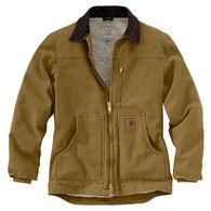 cfb7093603523 Carhartt Men's Sandstone Sherpa-Lined Ridge Coat