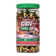 CCI Christmas Pack Clean-22 HV 22 LR 40 Grain Lead RN Ammo (400)