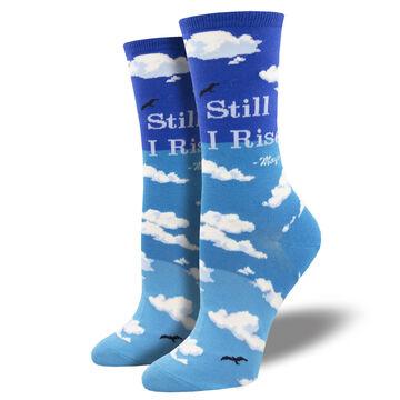 Socksmith Design Womens Maya Angelou Still I Rise Crew Sock