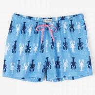 Hatley Women's Little Blue House Lobster Sleep Shorts