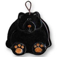 August Ceramics Black Bear Ornament