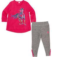 Carhartt Infant/Toddler Girls' Painterly Horse Set, 2pc