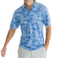 Southern Tide Men's Palm Print Driver Performance Polo Short-Sleeve Shirt