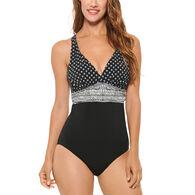Christina Women's Diamond Scarf V-Neck Swimsuit