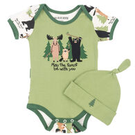 Hatley Infant Boy's Little Blue House May The Forest Be With You Bodysuit With Hat