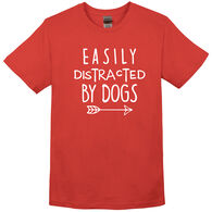 Pacific Art Women's Easily Distracted By Dogs Short-Sleeve T-Shirt