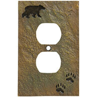 Big Sky Carvers Stonecast Bear Track Outlet Cover