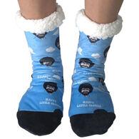 Oooh Yeah! Men's Bob Ross All Happy Clouds Sherpa Slipper Socks