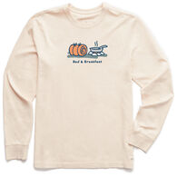 Life is Good Men's Bed and Breakfast Camping Vintage Crusher Long-Sleeve T-Shirt