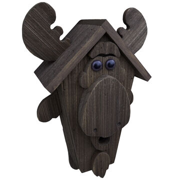 Brookside Woodworks Amish Handcrafted Moose Birdhouse