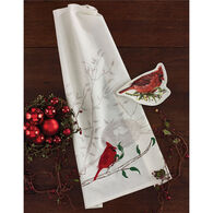 Park Designs Cardinal & Nest Embroidered Dish Towel