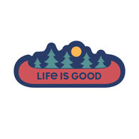 Life is Good Canoe Landscape Decal