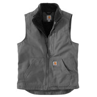 Carhartt Men's Big & Tall Force Washed Duck Sherpa-Lined Vest