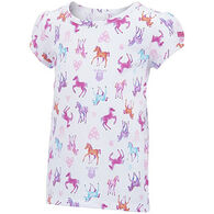 Carhartt Infant/Toddler Girls' Watercolor Horse Printed T-Shirt