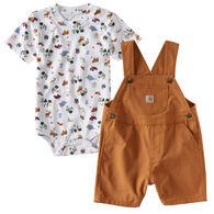 Carhartt Infant/Toddler Boys' Wild Shortall Set, 2pc