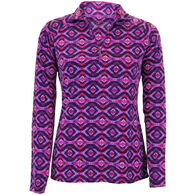 White Sierra Women's Alpha Beta Quarter Zip Printed Fleece Top