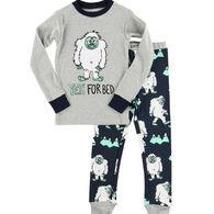 Lazy One Toddler Boy's Yeti For Bed PJ Set