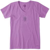 Life is Good Women's Fireflies Shine On Crusher Vee Short-Sleeve T-Shirt
