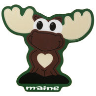 Blue 84 Fluffy Slacks Moose Maine Sticker
